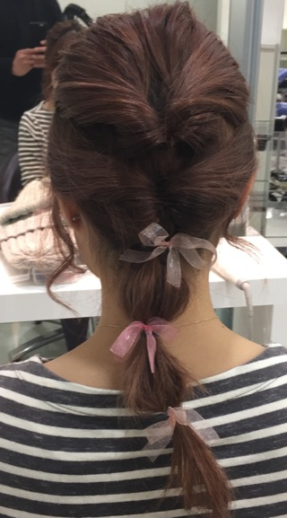 簡単セルフヘアアレンジ Wクルリンパ (青山 表参道美容室ブルーフェーセス高森恭生のブログ)